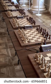 the chessboard before the tournament