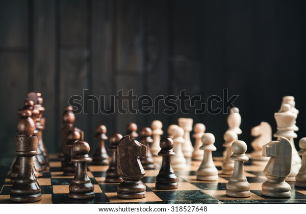 chessboard in the middle of the game chess