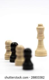 chess-man over white ,shallow dof