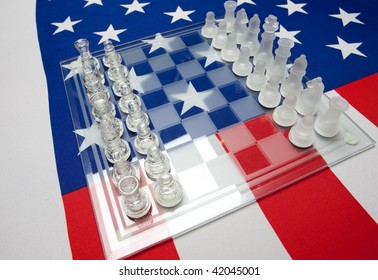 chessmen on the ensign of the USA