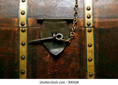 Chest locked with a pin