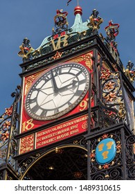 Chester Cheshire Uk Aug 2019 Chester city center clock