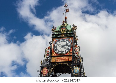 Chester clock with clouds