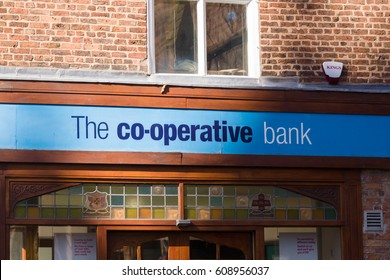 Chester England UK - March 25 2017: Co-Operative Bank a British financial services provider the group almost collapsed in 2013 and in February 2017 has been put up for sale