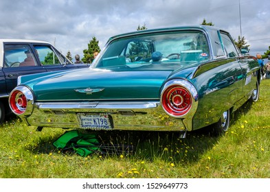 Chester, Nova Scotia, Canada - June 22, 2019 : 1963 Ford Thunderbird at annual Graves Island Car Show at Graves Island Provincial Park, Chester, Nova Scotia Canada.