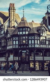 Chester rows old building architectures United Kingdom England Cheshire