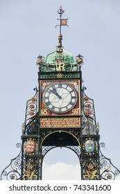 Chester, UK, April, 5 2009 : The Eastgate Clock which was added to the Eastgate to commemorate the diamond jubilee of Queen Victoria which is now a popular visitor attraction