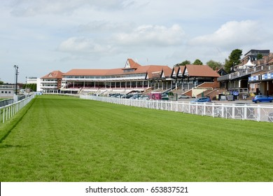 CHESTER, UK - JULY 17, 2016: Chester Racecourse also known as Roodee on a hot summers day, Chester, Cheshire, UK
