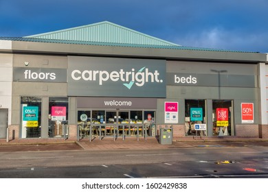 CHESTER, UNITED KINGDOM - DECEMBER 25th, 2019: Carpetright superstore store front