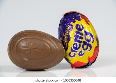 CHESTER, UNITED KINGDOM - MARCH 04 2018: Cadbury's Creme Egg. A popular chocolate treat for the Easter holidays.