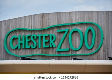 CHESTER, UNITED KINGDOM - MARCH 27TH 2019: Sign above the entrance to Chester Zoo