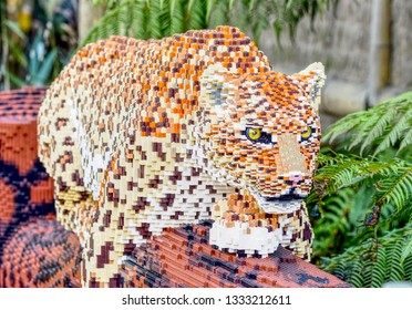 Chester Zoo Chester Cheshire United Kingdom 25/02/2019 Lego Big Cats Chester Zoo