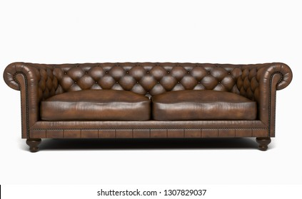 chesterfield sofa leather.