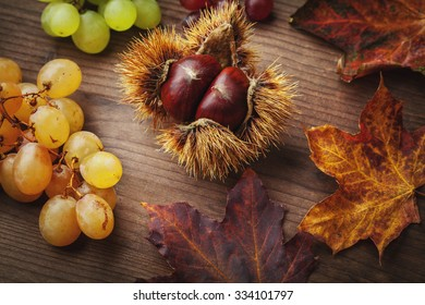 chestnut and grapes