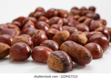 Chestnut on plate