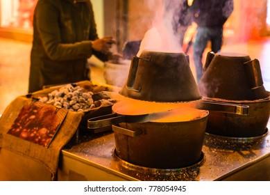 A chestnut roasting stove
