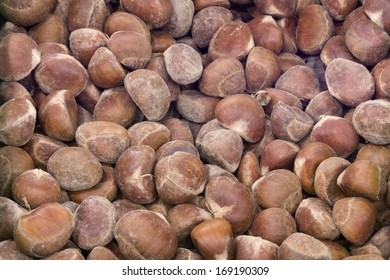 a lot of chestnuts