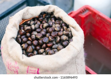 Chestnuts cooked in sacks Chestnut for Christmas
