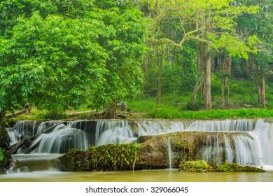 Chet-Sao-Noi waterfall in Khoa Yai National Park, Saraburi province, Thailand.