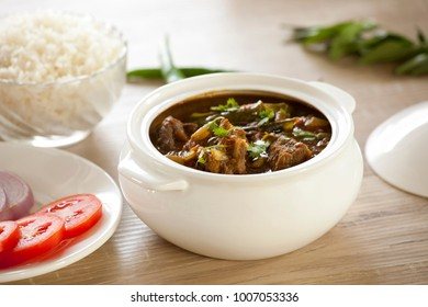 Chettinad mutton curry is a famous, spicy flavorful curry absolutely delicious curry.