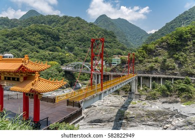 Cheung De Temple in Taroko National Park, Taiwan.