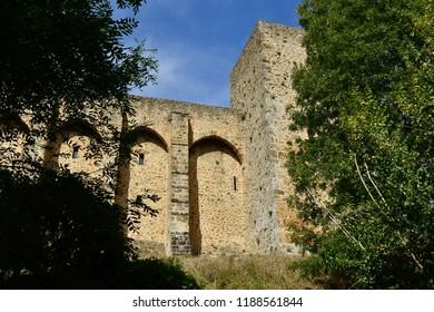 Chevreuse; France - september16 2018 : the castle of La Madeleine