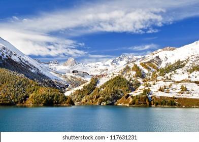 Chevril lake near Tignes and Val d'Isere