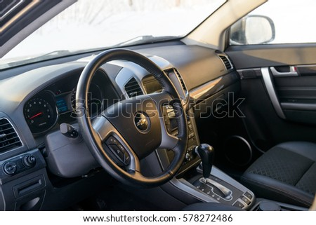 Chevrolet Captiva 2015 Car Interior Moscow Stock Photo Edit Now
