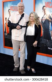 Chevy Chase and Beverly D'Angelo at the Los Angeles premiere of 'Vacation' held at the Regency Village Theatre in Westwood, USA on July 27, 2015.