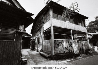 Chew Jetty Heritage Penang in Black and White