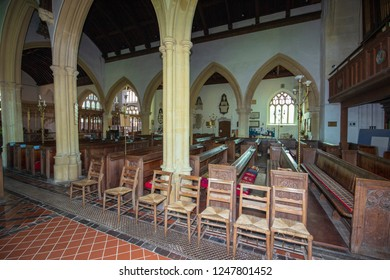 Chew Magna, UK, 10-05-2018: Inside St Andrews Church, Chew Magna