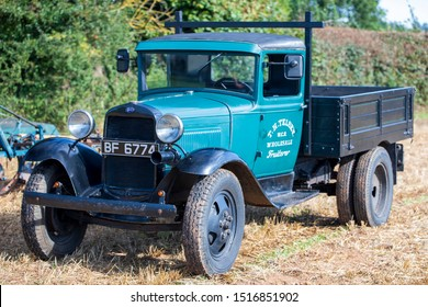 Chew Stoke, UK, September 15, 2019: Ford Truck, 1930, Reg No BF 6774, at the Chew Stoke Vintage Tractor and Ploughing Display 2019