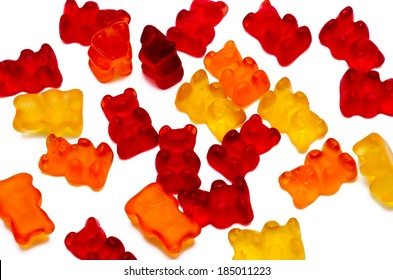 chewing candies, vitamins of a bear isolated