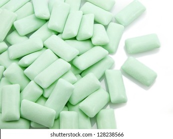 chewing gum isolated on a white background