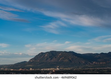 Cheyenne Mountain Looking Over Colorado Springs