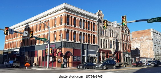 Cheyenne, Wyoming - November 22, 2019: The Commercial building was built by F.E. Warren in 1883. It is an excellent example of the High Victorian Gothic style. Now for sale - $2,250,000