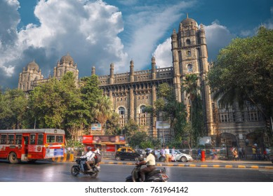 Chhatrapati Shivaji, the former Victoria Terminus - a historical railway station in the Indian city of Mumbai, one of the busiest in India.