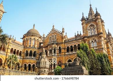 Chhatrapati Shivaji Maharaj Terminus Railway Station is a historic terminal train station also know by its former name Victoria Terminus and UNESCO World heritage Site in Mumbai, Maharashtra, India.