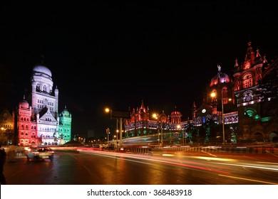 Chhatrapati Shivaji Terminus (CST) formerly Victoria Terminus in Mumbai, India is a UNESCO World Heritage Site Circa 26, January 2016