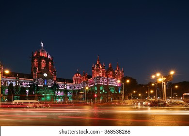 Chhatrapati Shivaji Terminus (CST) formerly Victoria Terminus in Mumbai, India is a UNESCO World Heritage Site Circa 26, January 2016