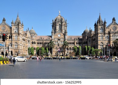 Chhatrapati Shivaji Terminus formerly Victoria Terminus in Mumbai, India is a UNESCO World Heritage Site and historic railway station which serves as the headquarters of the Central Railways.