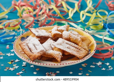 chiacchiere, traditional italian carnival pastry