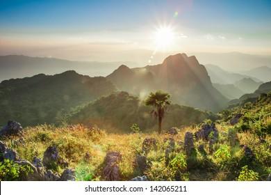 Chiang Dao Mountain in Thailand beutiful scenic