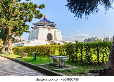 Chiang Kai Shek memorial hall, Taiwan. A famous monument, landmark and tourist attraction erected in memory of Generalissimo Chiang Kai-shek