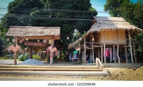 CHIANG KHAN, LOEI, THAILAND - Circa August,2018 :Tai Dam Cultural Village at Chiang Khan in Loei Province, Thailand.