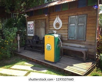 CHIANG KHAN, LOEI, THAILAND - September 27, 2018 : model PTT Gas Station in Thailand. PTT is a Thai state-owned SET-listed oil and gas company