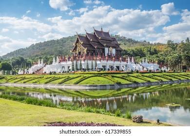 CHIANG MAI ,APRIL ,2017: Royal Flora Ratchaphruek (Royal Park Rajapruek),is a landmark of Chiang Mai in Thailand.