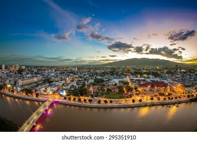 Chiang mai cityscape at twilight