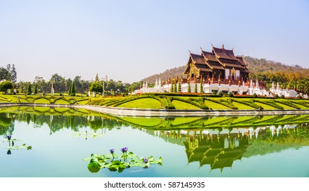 CHIANG MAI , FEBRUARY 09,2017:  Royal Flora Ratchaphruek (Royal Park Rajapruek),is a landmark of Chiang Mai in Thailand.
