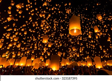 Chiang Mai festival in Thailand, a traditional festival, Yi Peng Lantern.